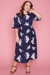 Lulu Navy Print Dress