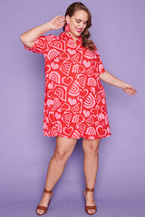 Scarlet Love & Rainbows Dress