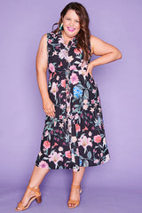 Elizabeth Black Floral Dress