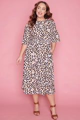 Lulu Neutral Leopard Dress