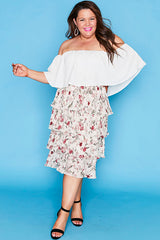 Thrilled Cream Floral Skirt