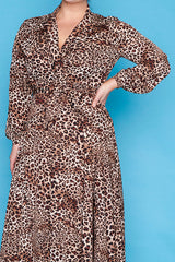 Pia Leopard Wrap Dress