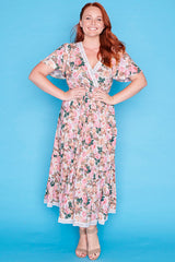 Cynthia Pink Floral Dress