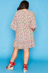 Wild Card White Floral Dress