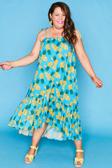 Isla Pineapple Print Dress