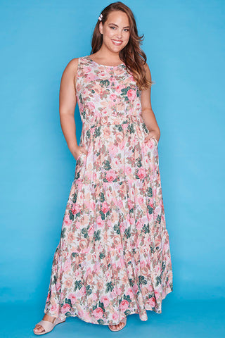 Laura Pink Floral Dress