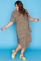 Havana Leopard Print Shirt Dress