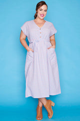 Georgie Pink Gingham Dress