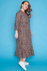 React Leopard Dress