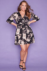 Antonia Black Floral Dress