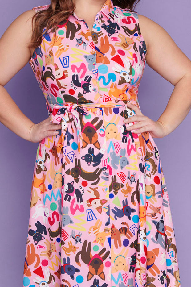 Dolly Cats & Dogs Dress