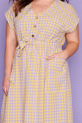 Georgie Yellow Gingham Dress