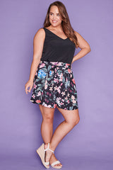 Natalie Black Floral Shorts