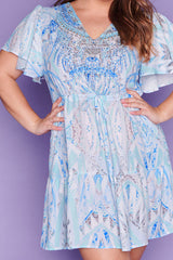 Truth Blue Print Dress