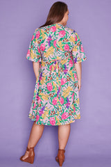 Sarah Native Flora Wrap Dress