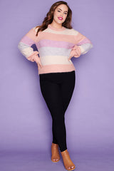 Cherish Pastel Stripe Knit