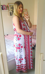 Abby White Floral Maxi Dress