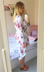 Alana White Floral Shirt Dress