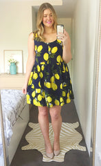 Alice Lemon Print Dress