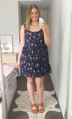 Alice Navy Floral Dress
