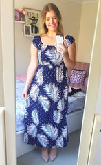 Amanda Navy Tropical Dress