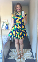 Amy Banana Print Dress