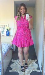 Amy Pink Leopard Dress
