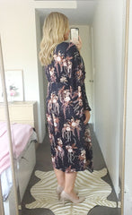 Anastasia Black Floral Dress