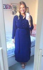 Angela Navy Dress