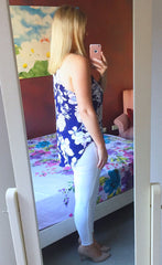 Anita Blue Floral Top