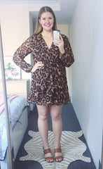 Anne Leopard Print Dress