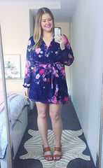 Anne Navy Floral Dress