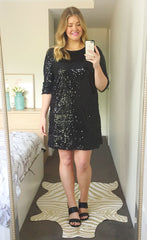 Aria Black Sequin Dress