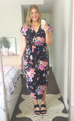 Arlo Black Floral Dress