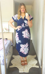 Arlo Navy Floral Dress
