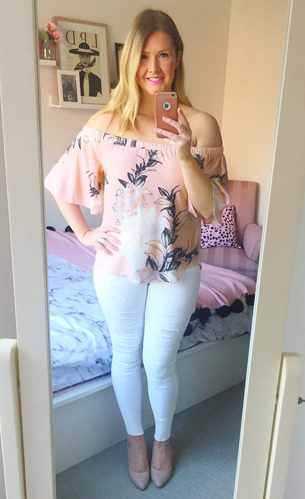 Barcelona Blush Floral Top