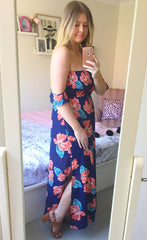 Bec Navy Floral Maxi Dress