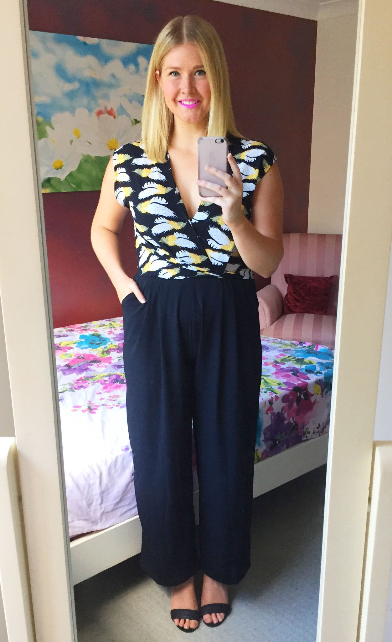 Becky Yellow Print Jumpsuit