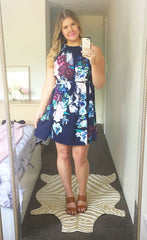 Bertie Navy Floral Dress