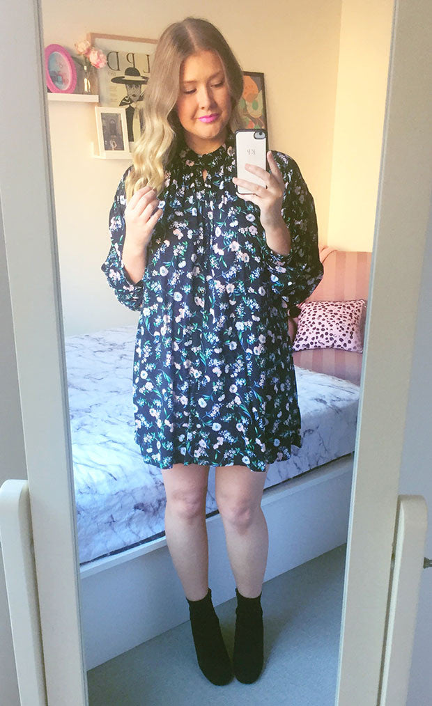 Bitter Sweet Black Floral Dress