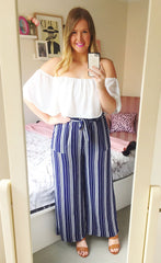 Bonnie Navy Stripe Pants