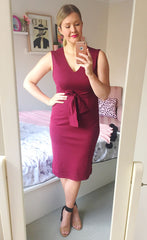 Boss Babe Burgundy Dress