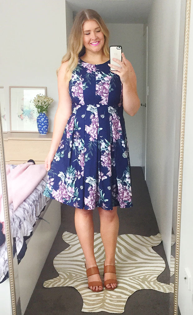 Botanica Navy Floral Dress
