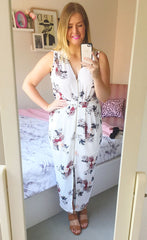 Briana White Floral Dress