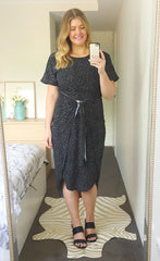 Brooke Black Spots Dress