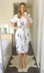 Brooke White Floral Dress