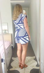 Caris Blue Aztec Playsuit