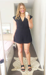 Caris Black Playsuit