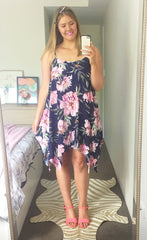 Carlie Navy Floral Dress