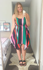 Carlie Pink Stripe Dress